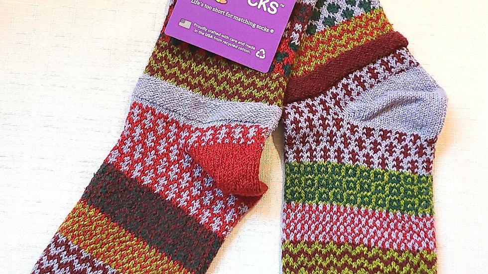 """Elderberry"" Solmate socks"