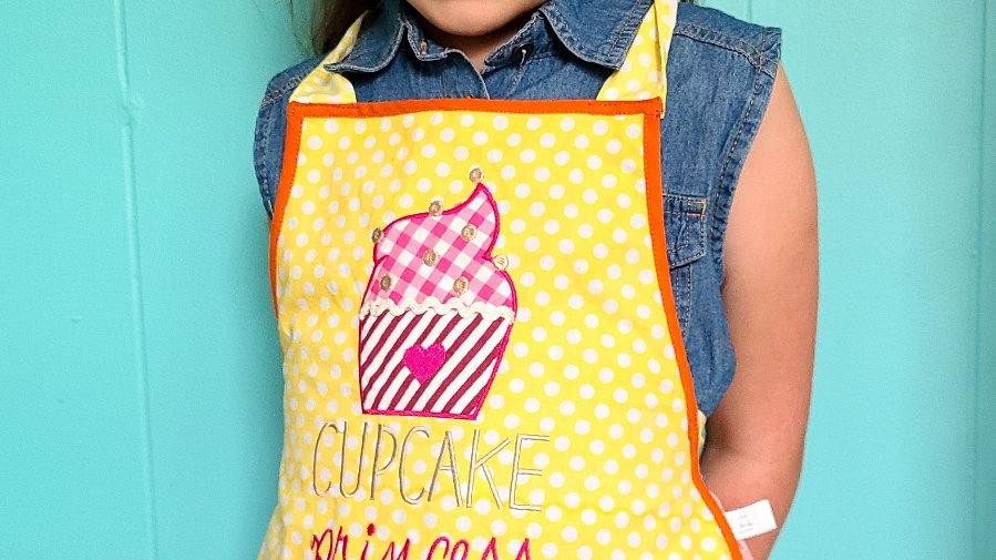 """Cupcake princess"" children's apron"
