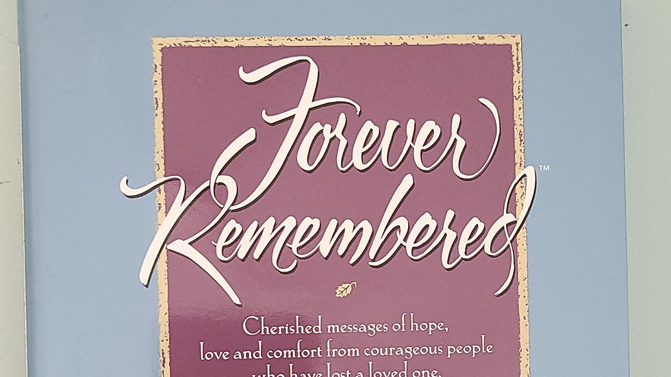 Forever remembered book