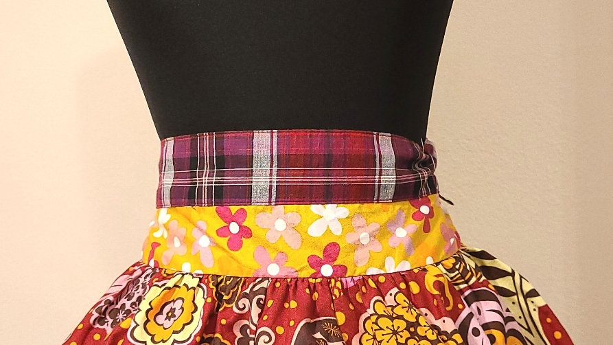 Multi colors short apron