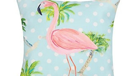 Palm Beach Flamingo Pillow