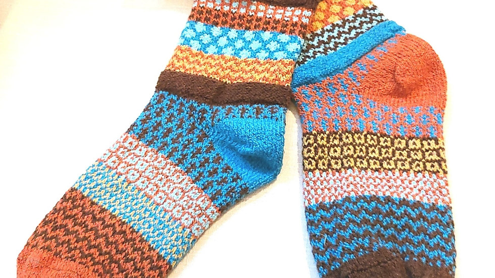 """Amber Sky"" Solmate socks"