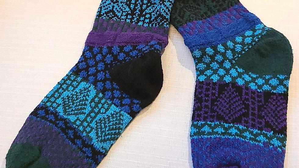 """Blue Pruce"" Solmate socks"