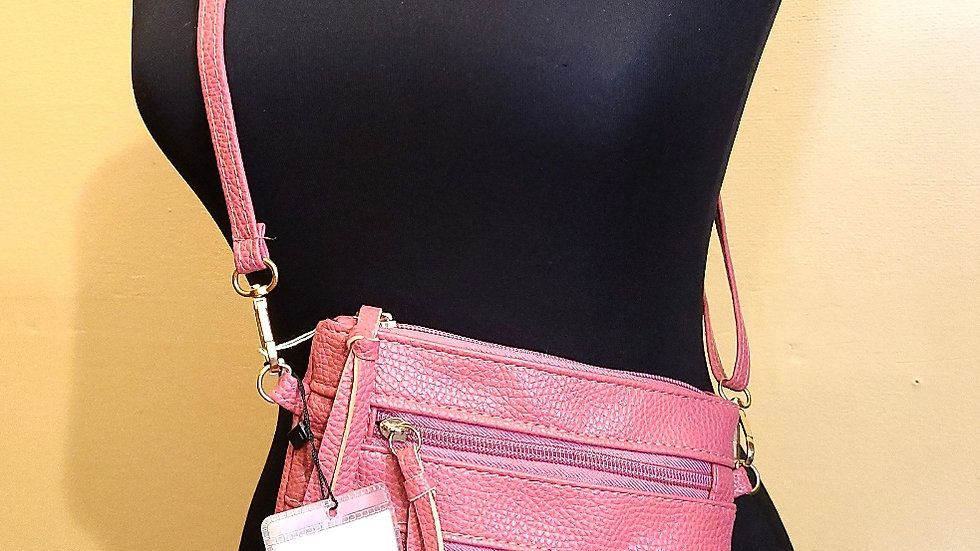 Faux leather hot pink purse