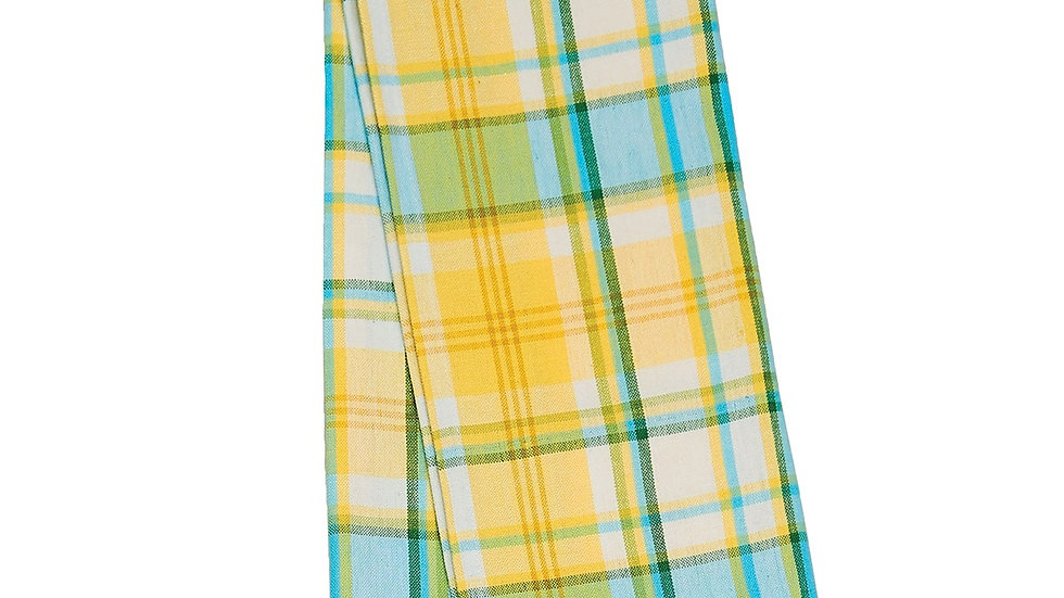 Citrus Plaid Kitchen Towel