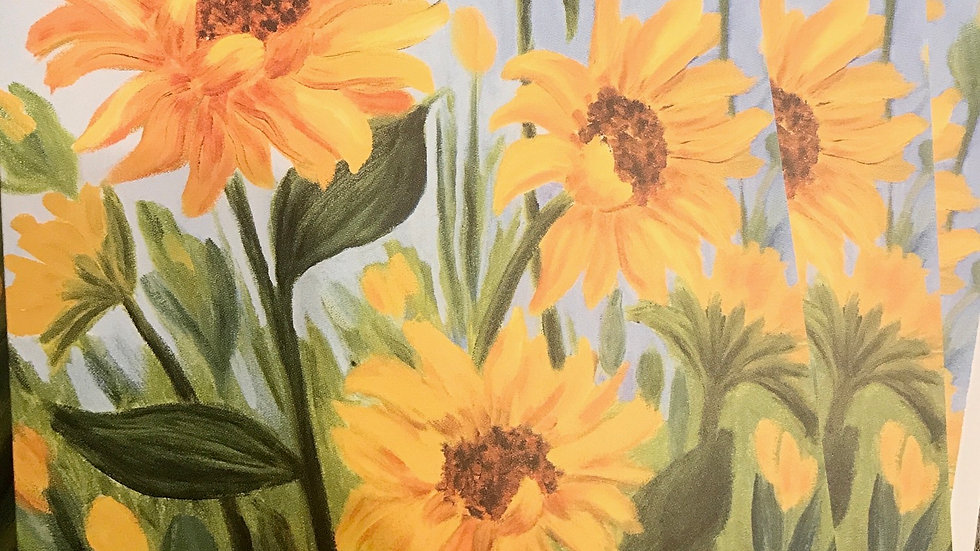 Set of 5 Handpainted Note cards/ Greeting cards