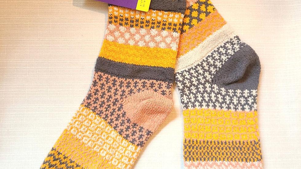 """Buckwheat"" Solmate socks"