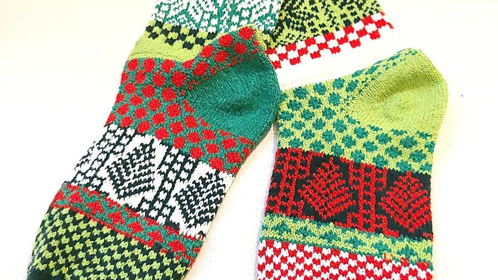 """Mistletoe"" Solmate socks"