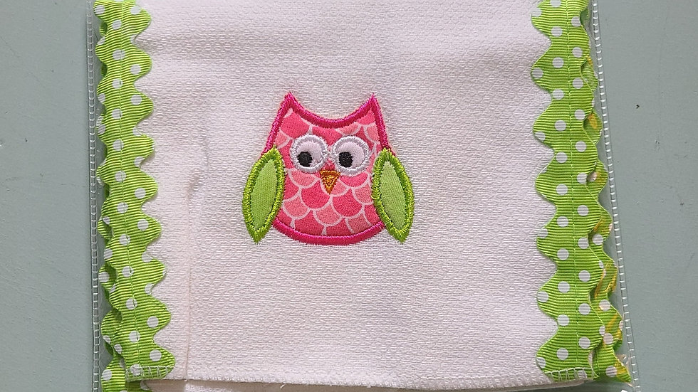 Bird burp cloth