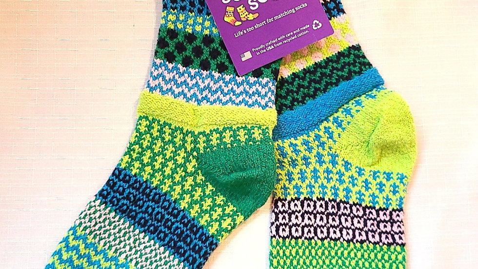 """Water Lily"" Solmate socks"