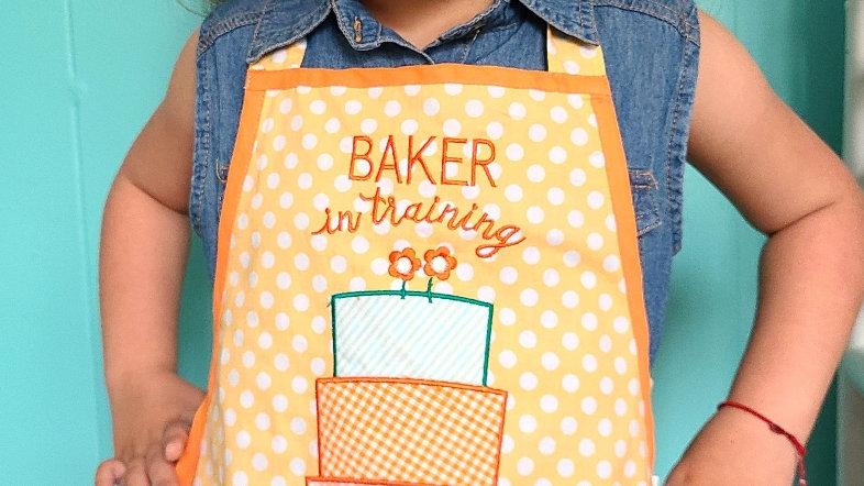 """""""Baker in training"""" children's apron"""