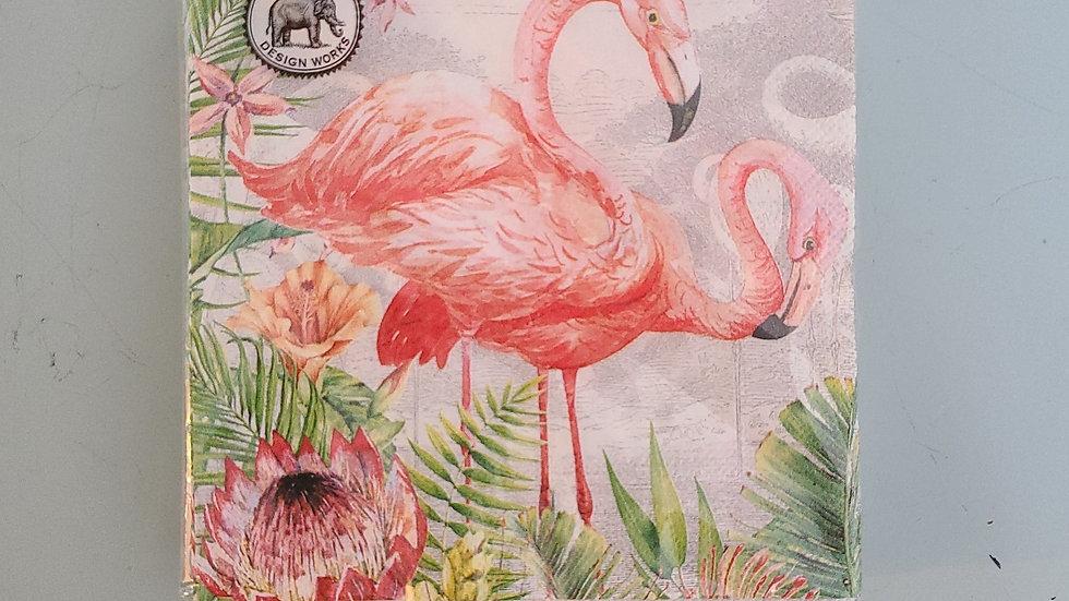 Flamingo cocktail napkins