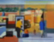 Central Albuquerque, oil over acrylic.jp