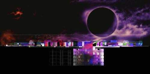 Sci-fi set design --- media community