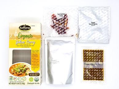 Organic Thai Yellow Curry Complete Meal Kit Set Sutharos Thai