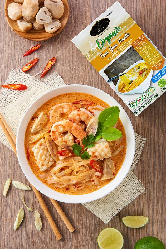Organic Creamy Coconut Tom Yum Noodle Sutharos Thai