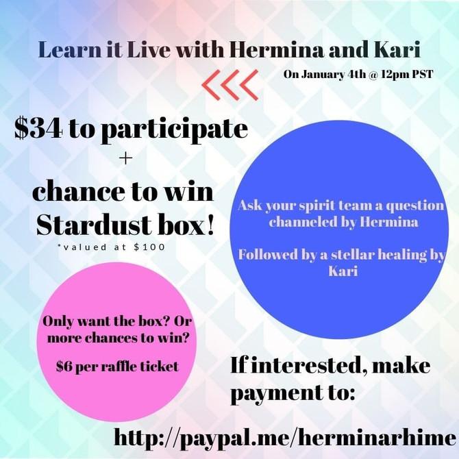 Learn It Live with Hermina & Kari 1/4/20
