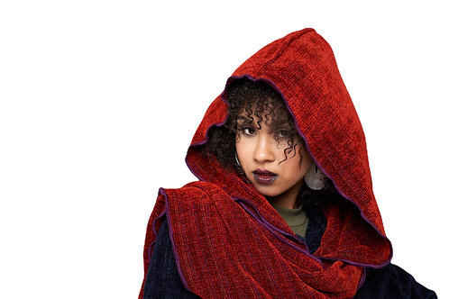 Paprika Hooded Shawl