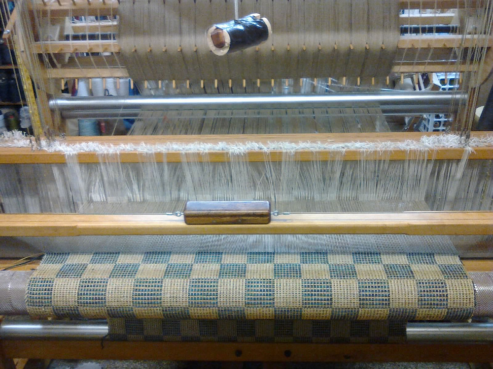 Fabric weaving process