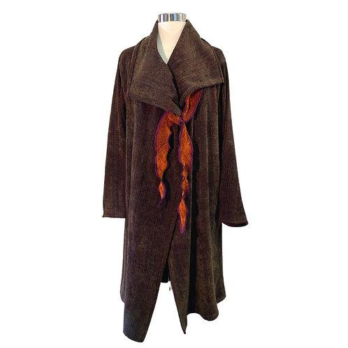 Windy City Coat in Brazilwood