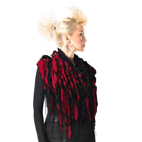 Waterfall Scarf Red