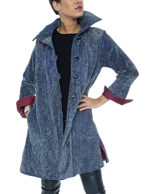 "Quilted Coat ""Woman with Steel"""