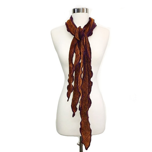 Three Scarf Curls in Burnt Orange