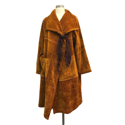 Windy City Coat in Curry