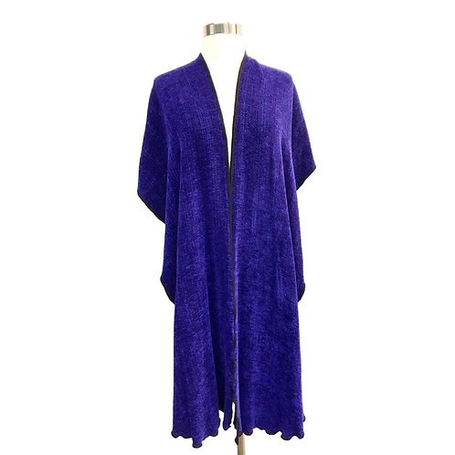 Cobalt Blue  Hooded Shawl