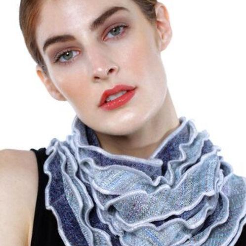 Ruffled Edge Collar in Grays