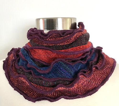 Ruffled Edge Collar in Fall Colors