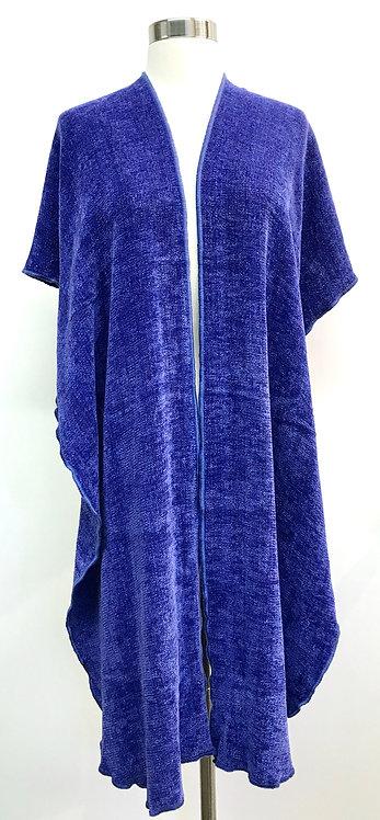 Cornflower Blue Hooded Shawl