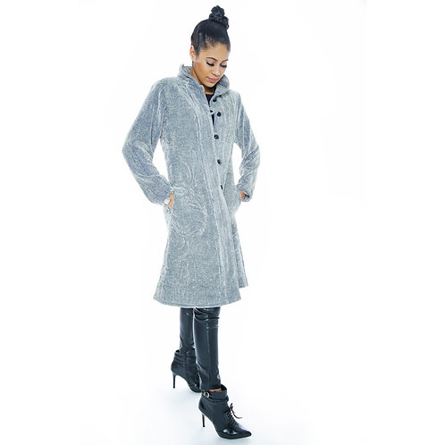 Quilted Coat Stone Grey