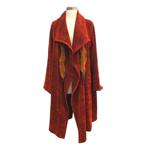 Windy City Coat in Paprika Red