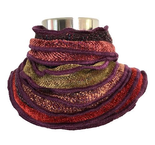 Ruffled Edge Collar in Fall Colors