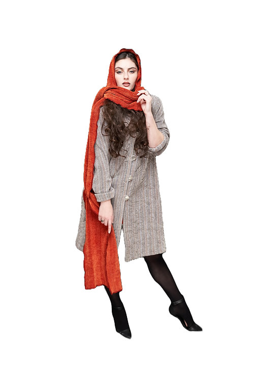 Cayenne Hooded Shawl