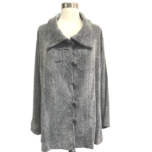 Stone Gray Jacket with Pin Tucks