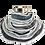 Thumbnail: Ruffled Edge Collar in Grays and Teal