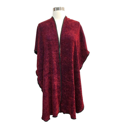 Bing Cherry Red Hooded Shawl