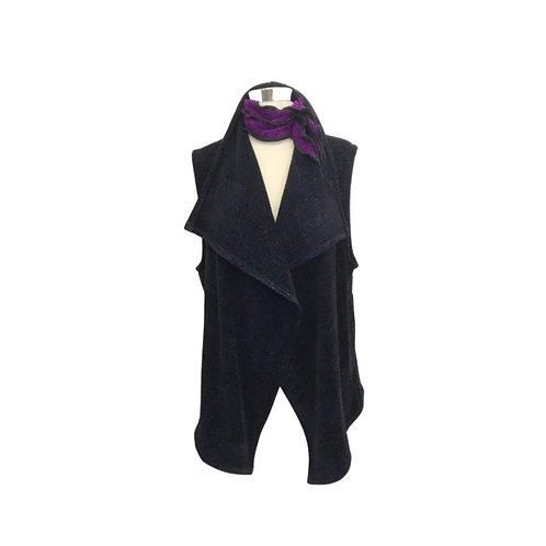 Black with Bronze Fleck Flutter Vest