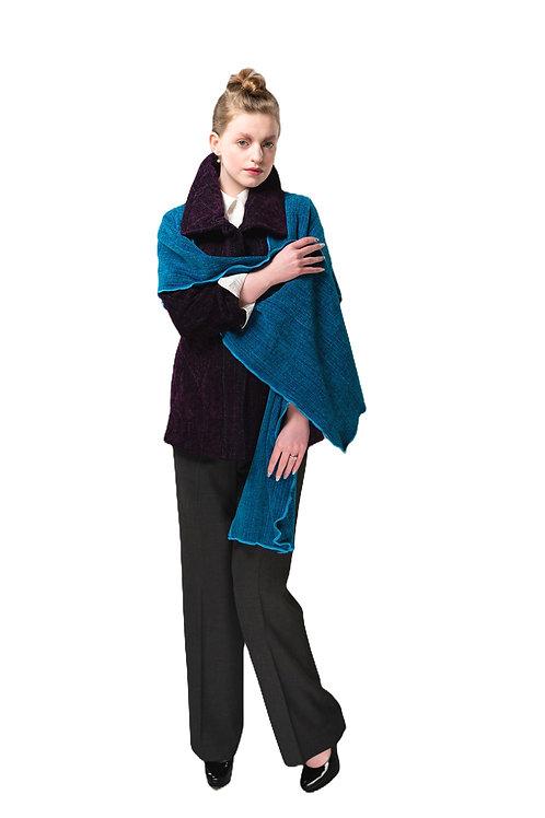 Turquoise Hooded Shawl