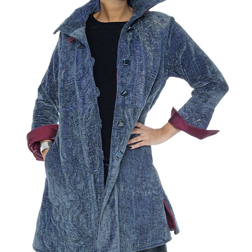 """Quilted Coat """"Woman with Steel"""""""