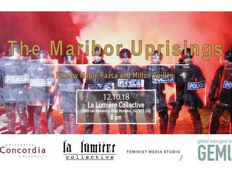 Upcoming Event: The Maribor Uprisings – Politics of Alternative Media, Monday Dec. 10