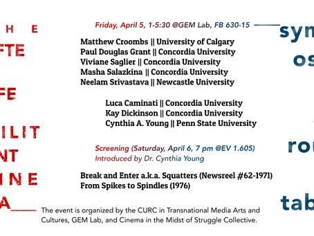 Upcoming Event: The Afterlife of Militant Cinema: Symposium and Roundtable, April 5 @ GEM Lab