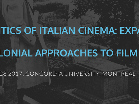 Upcoming Workshop: Geopolitics of Italian Cinema: Expanding Postcolonial Approaches to Film Studies