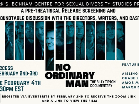 No Ordinary Man: The Billy Tipton Doc Screening and Roundtable Discussion