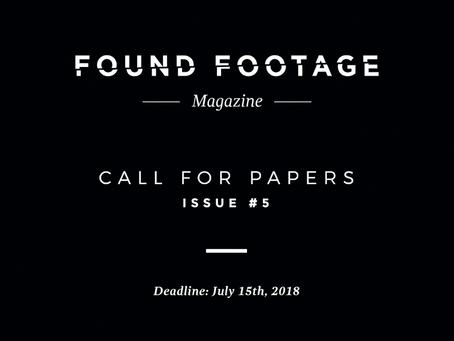 CFP: Found Footage Magazine Issue #5 (Deadline: July 15th, 2018)