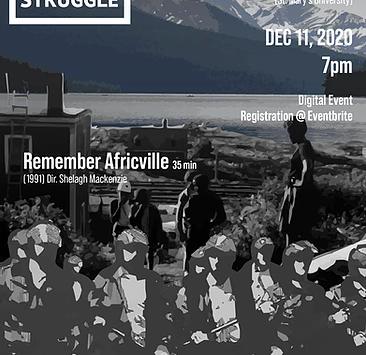 Cinema in the Midst of Struggle: Remember Africville & Incident at Restigouche w/ Delvina Bernard