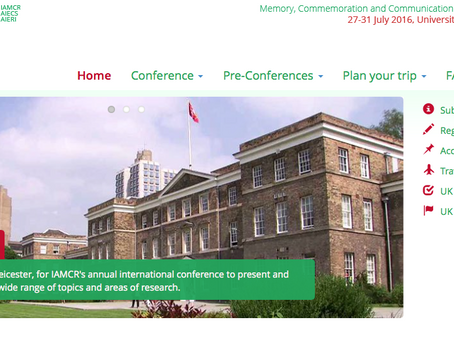 "CFP: ""Memory, Commemoration, and Communication"" IAMCR 2016"