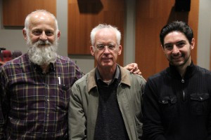 pictured left to right: Prof. Thomas Waugh, Jon Jost, and Bill Fech